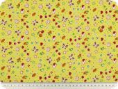 Children fabric, fruits, yellow-multicolor, 140cm