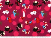 Cotton jersey for children, dogs, multicolour,158cm