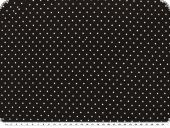 Cotton jersey tiny dots, black, 158cm