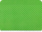 Cotton jersey tiny dots, green, 158cm