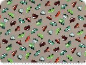 Children fabric, vehicles, mud, 140cm