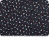 Cotton print with pirates, children fabric, navy, 140cm