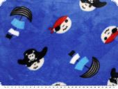 Superfleece, pirates,  blue, 150cm
