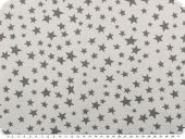 Cotton jersey for children,stars, lightgrey, 150cm