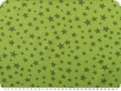 Cotton jersey for children, stars, may green, 150cm