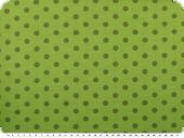 Cotton jersey for children, dots, may green, 150cm