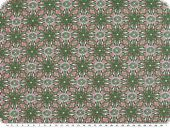 Leftover, Cotton jersey, flowers, dark green-pink, 60x150cm
