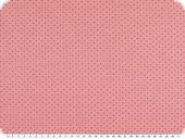 Cotton jersey for children, dots, rose-pink, 150cm