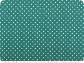 Cotton jerseywith small stars, aqua-turquoise, 150cm