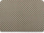Cotton jerseywith small stars, grey-pink, 150cm