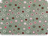 Cotton jersey, dots-circles, pastel lilac-green, 150cm