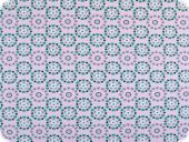 Cotton jersey,small hearts, pastel lilac-green, 150cm