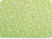 Cotton print, tendrils, denim green-white, 145cm