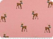 Cotton-Jersey, children fabric, fawns, rose pink, 150cm