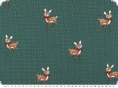 Cotton-Jersey, children fabric, fawns, emerald, 150cm
