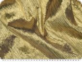 Silver lam� fabric, gold, with real metal thread, approx 133