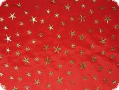 Leftover piece, Christmas fabric, Golden stars, 140x150cm