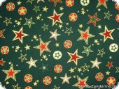 Leftover, Christmas fabric with stars, green, 120x140cm