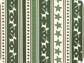 Christmas fabric, stars, hearts and reindeer, green, ca. 140