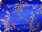 China Jacquard, royalblau, ca 90cm