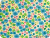 Summerly cotton fabric, flowers, multicoloured, 145cm