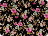 Floral cambric cotton, flowers, multicolour, 140cm