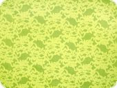 Cotton-polyester fabric, cauterised,flowers, yellow, 145cm