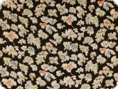 Airy chiffon crinkle, flower-print, multicolour,ca. 142 cm