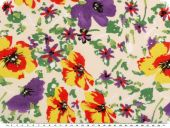 Fine cotton print, voile, flowers, multicolour, 140cm