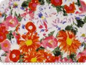 Fresh cotton print, voile, flowers multicolour, 135cm
