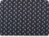 Jeans print, small skulls, blue-white, 140cm