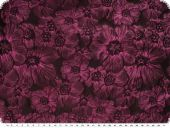 Roses-jacquard, plum and black, 165cm