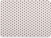Viscose mousseline, small dots, black on white, 142mc, 142cm