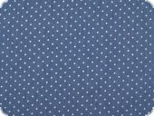 Denim print, small dots, 7 oz, blue-white, 150cm