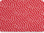 Viscose-voile, butterflies, red and white, 138cm
