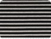 Cotton jersey, stripes, grey-black, 150cm