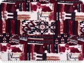 Viscose print, 'Inca', red-blue-white, 150cm