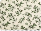 Viscose mousseline, flower print, ecru-white, 140-145cm