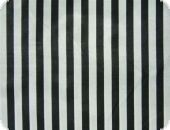 Polyester satin stripes, black-white, ca. 150cm