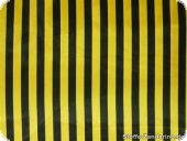 Polyester satin stripes, black-yellow, ca. 150cm