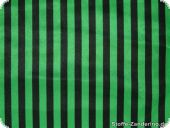 Polyester satin stripes, black-green, ca. 150cm