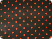 Polyester satin, little dots, black-red, ca. 150cm