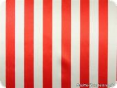 Polyester satin with stripes, red-white, ca. 150cm