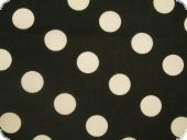 Natural Stretch, black, big white dots, ca. 150cm
