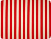 Natural-stretch,stripes, red-white, ca. 150cm