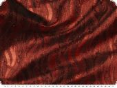 Lurex waves, red, 134cm,