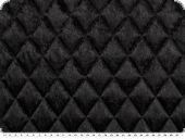 Fashionable quilt, panne velvet, black, 145cm