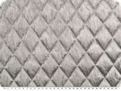 Fashionable quilt, panne velvet, grey, 145cm