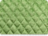 Fashionable quilt, panne velvet, green, 145cm