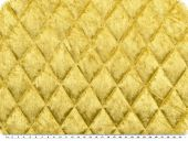 Fashionable quilt, panne velvet, yellow, 145cm